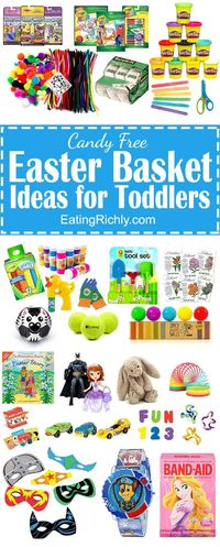 For parents who don't want to load your little one up with sugar this Easter, here's a list with 30 of our favorite no candy Easter basket ideas for toddlers.