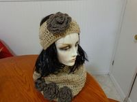 skiband or hat with matching infinity scarf by TizsTwistedStitches, $45.00