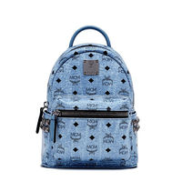 MCM X-Mini Stark Side Studded Backpack In Washed Blue