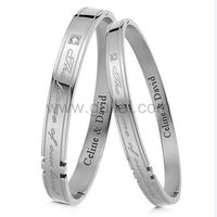 Gullei.com Engraved His and Hers Couples Relationship Bracelets
