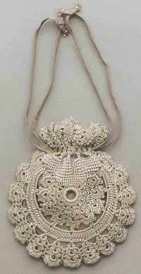 crochet bags, handbags and beads.
