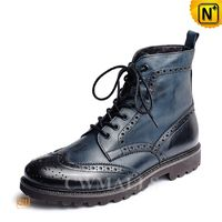 CWMALLS® Lace-up Leather Brogue Boots for Men CW726510