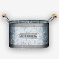 Industrial Kitchen Galvanised Steel Utensil Caddy £19.99