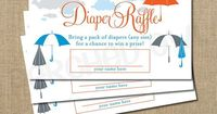 diaper raffle, bring a pack of diapers for a chance to win a prize... fun baby shower idea