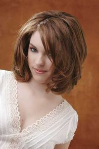 Medium length haircuts are the most dominant hairstyle for women as it is the safe area around which different haircuts can be tried out with out much effort. M