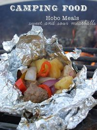 Hobo Meals! I remember these from Girl Scouts. Such fun and no dishes! You can also do these in the over for a quick cleanup night.