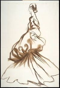 Charles James design sketch by Antonio Lopez