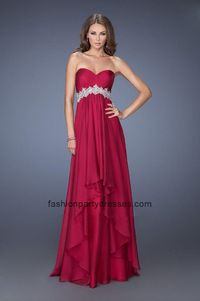 Strapless Fancy Filigrees Prom Gown By La Femme 19744