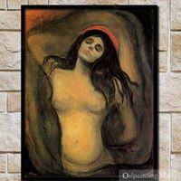 Hand Painted Reproduction Oil Painting Madonna By Edvard Munch