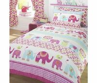 Generic Nellie Elephant Single Duvet Cover and The perfect duvet for girlie girls. Duvet Cover size: 138cm x 200cm. Pillowcase size: 48cm x 74cm. http://www.comparestoreprices.co.uk//generic-nellie-elephant-single-duvet-cover-and.asp