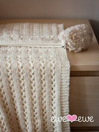 Ewe Ewe Sweet Pea Baby Blanket Knitting Pattern