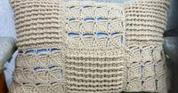 Beautiful handmade crochet pillow cover.