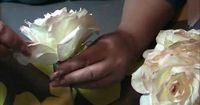 I made this video! In it I show you how to make a Coffee Filter Rose from start to finish. Hope you enjoy it and try it.