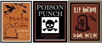 Free printable Halloween drink labels for your holiday beverages.