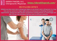 If you need a chiropractor in Pensacola FL, feel free to contact our office. They will happily schedule an appointment for you to get treatment from Dr. Derek Finger. https://derekfingerdc.com/