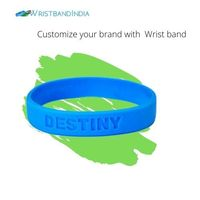 Buy Silicone Debossed Wristband with Personalised 