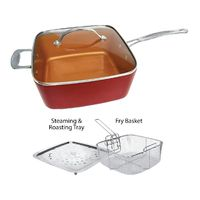 Red Copper Cookware Set - 5 pc~$34.95~Free Shipping $34.95
