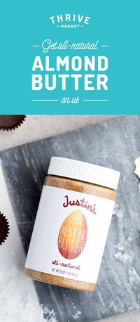 Want all-natural, incredibly delicious and healthy almond butter? Enjoy your FREE jar today at Thrive Market! On a mission to make healthy living easy and affordable for everyone, Thrive Market offers premium, organic foods and healthy products up to 50&#...