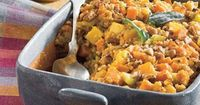 Recipe: Cornbread Stuffing With Sweet Potato and Squash While cornbread stuffing is delicious as-is, sometimes you may want to amp up its flavor, and this recip