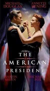 """THE AMERICAN PRESIDENT (1995): Comedy-drama about a widowed U.S. president and a lobbyist who fall in love. It's all above-board, but """"politics is perception"""" and sparks fly anyway."""