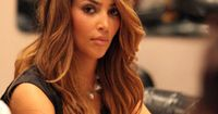 kim kardashians brown ombre color hair styles with hair extension