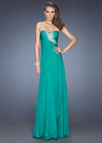2014 Kelly Green Beaded Pleated Fitted Prom Dress