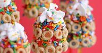 Cheerios Frozen Banana Pops, I can't wait to try these. They look fun and the receipe sounds delicious. Also, this is a beautiful website.