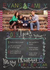 photo christmas card year in review can everyone do this instead of those endless - Year In Review Christmas Card