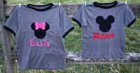 CUSTOM NAME Disney Mickey or Minnie T-shirts for Disney Vacation photos, Disney Memory Photo props