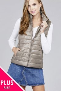 20% discount with BESTDEAL at checkout! Ladies fashion plus size quilted padding vest $36.00