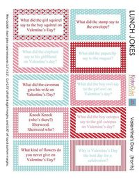 Valentine's Day Jokes - free printable valentine jokes that are perfect for lunches, valentine gift bags, or to leave hidden around your house for your family t