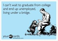 A joke for the the seniors AND by joke I mean real life | #ecard #SimpsonCollege #College #Humor