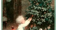 """§§§ . 1922 . """"His First Christmas"""" painted by Worth Brehm for General Electric's Edison Mazda division."""
