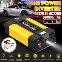 2 IN 1 Car Power Inverter Jump Starter Portable Charger Battery Power Bank T31 400W DC 12V To AC 220V 5V 2.1A USB Battery Booster Power Bank