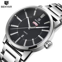BENYAR Men's Luxury Brand Business Watches Men Waterproof Stainless Steel Fashion Casual Quartz Watch Clock Relogio Masculino $59.60
