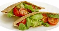 Great, easy meal. Buy the pesto and save time! Do not skip the Arugula, it makes the meal. A fantastic addition to any sandwich. Chicken and Arugula Pita Pockets from FoodNetwork.com