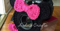 LuLu's Crafts: Say Cheese! Minnie Mouse Camera Lens Buddy - free crochet pattern by Kelsey Bieker.