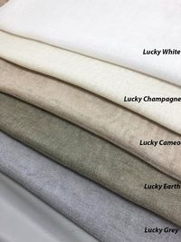 """Relaxed Roman Shade """"Lucky Grey"""" available in different colours, roman shades with chain mechanism, relaxed sheer faux linen roman shades $180.00"""