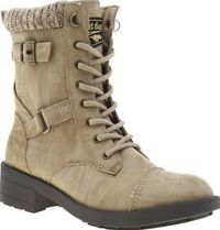 Rocket Dog Natural Thunder Womens Boots Boots with a military-inspired look arrive fresh from Rocket Dog, in the form of the Thunder. The natural coloured, man-made upper features strap embellishment for a tough edge, whilst a knitted cuff http://www.comp...