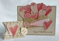 valentine day cards, valentine cards and pillow box.