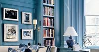Blue hues living room from The Decorista. Get the look!
