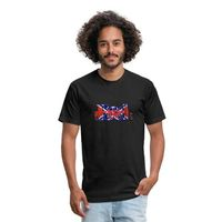 RED NECK YOGA Fitted Cotton/Poly T-Shirt by Next Level is in stock.