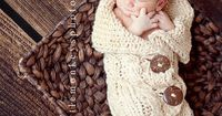 Organic Baby Cocoon Newborn Knitted and Cabled by SwaddleMeSoftly, $80.00
