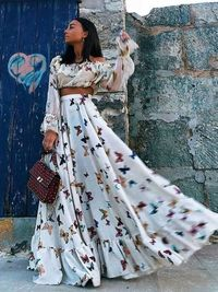 Sexy Off Shoulder Floral Printed Maxi Dress $49.99