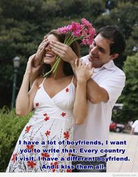 Blind dating picture with quote