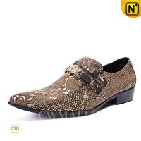 Men Leather Shoes | CWMALLS® Patented Embossed Leather Loafers CW708208[Father's Day Gifts, Handmade]