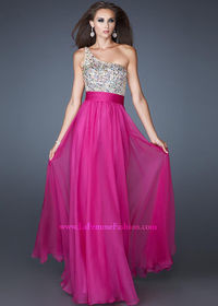 La Femme 18646 Magenta Paradise Long Prom Dress