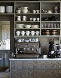 Coffee and espresso counter - how great is this?