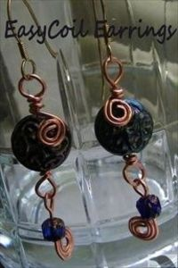 Easy Coil Bead Earrings