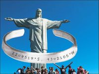 Christ the Redeemer Wrist Cuff Stamped Aluminum Bracelet $21.45